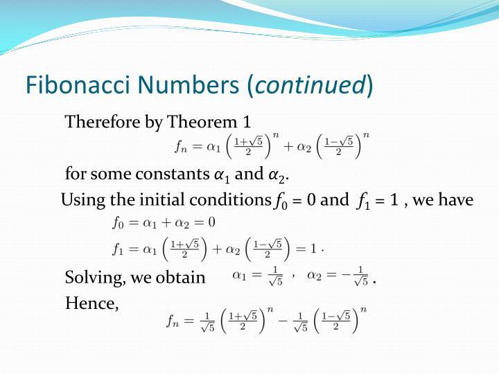 Fibonacci Numbers (