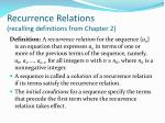 recurrence relations recalling definitions from chapter 2