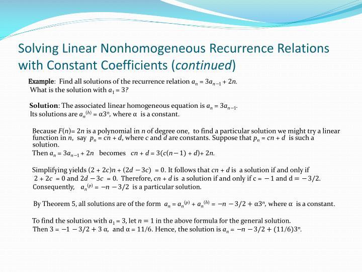 Solving Linear