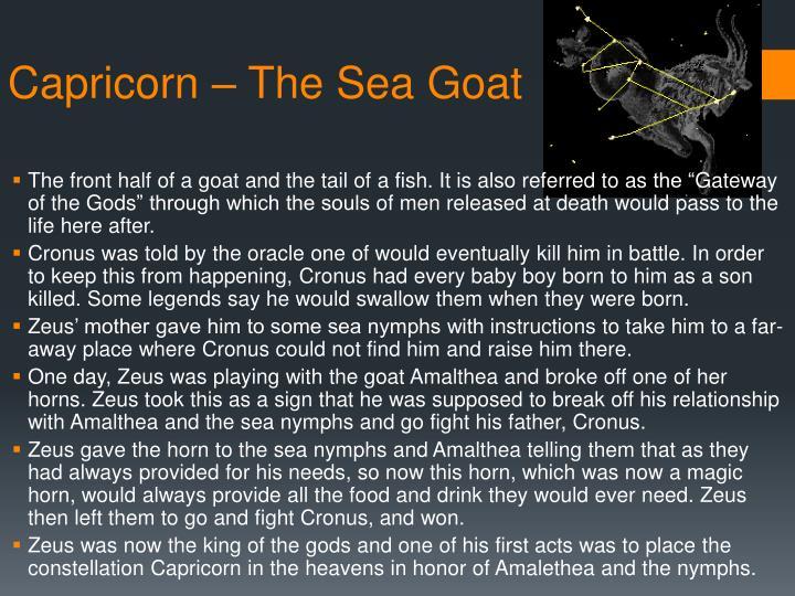 Capricorn – The Sea