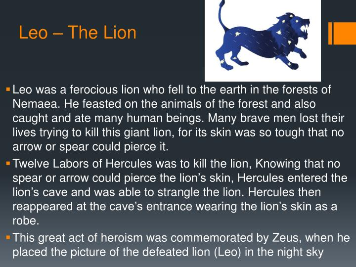 Leo – The Lion