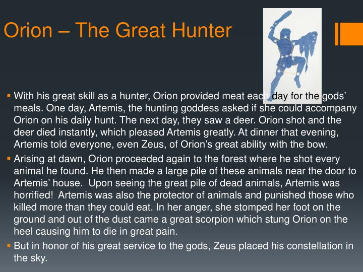 Orion – The Great