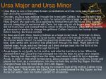 ursa major and ursa minor