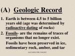 a geologic record