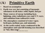 a primitive earth