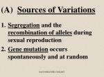 a sources of variations