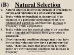 b natural selection