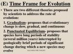 e time frame for evolution