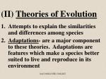 ii theories of evolution