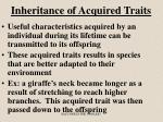 inheritance of acquired traits