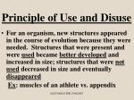 principle of use and disuse