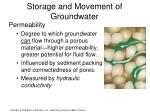 storage and movement of groundwater1