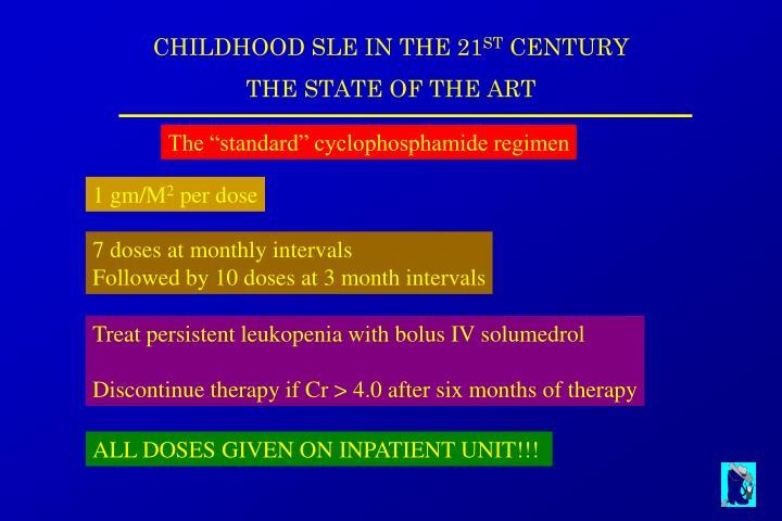 """The """"standard"""" cyclophosphamide regimen"""