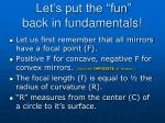 let s put the fun back in fundamentals