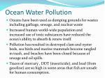 ocean water pollution
