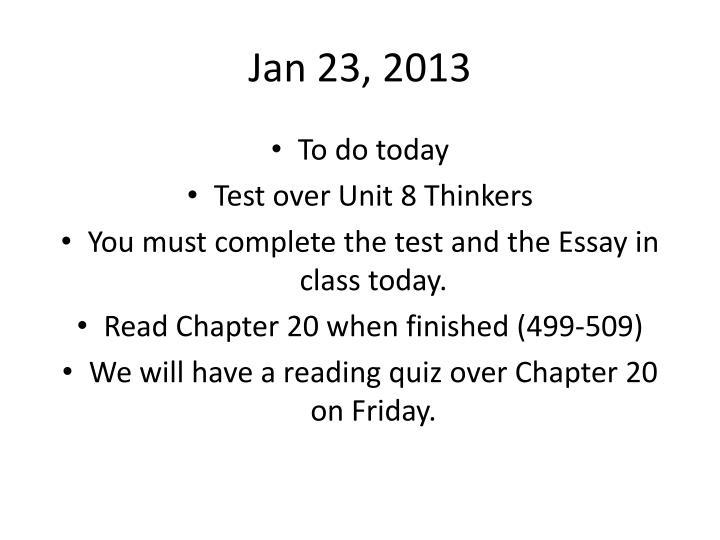 Jan 23, 2013