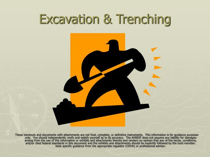 Excavation trenching
