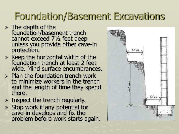 Foundation/Basement Excavations