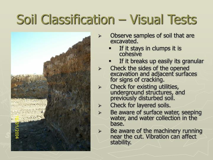 Soil Classification – Visual Tests