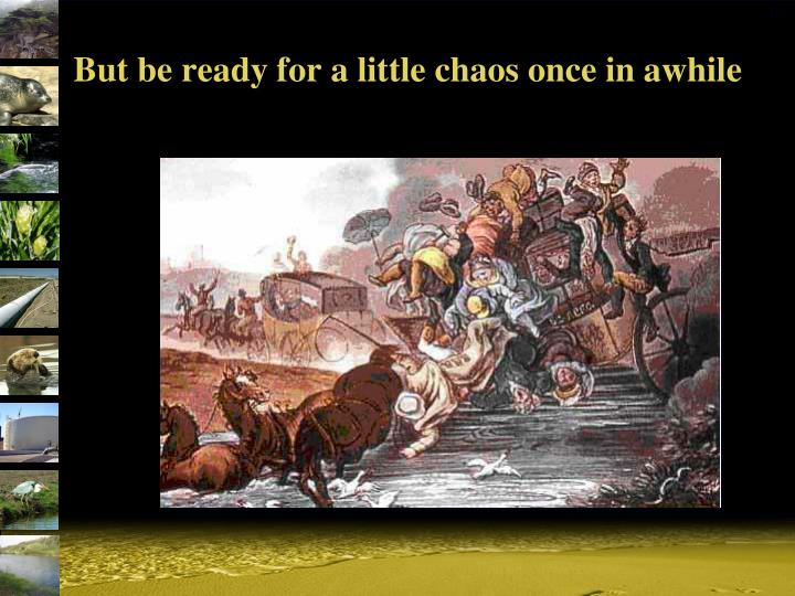 But be ready for a little chaos once in awhile
