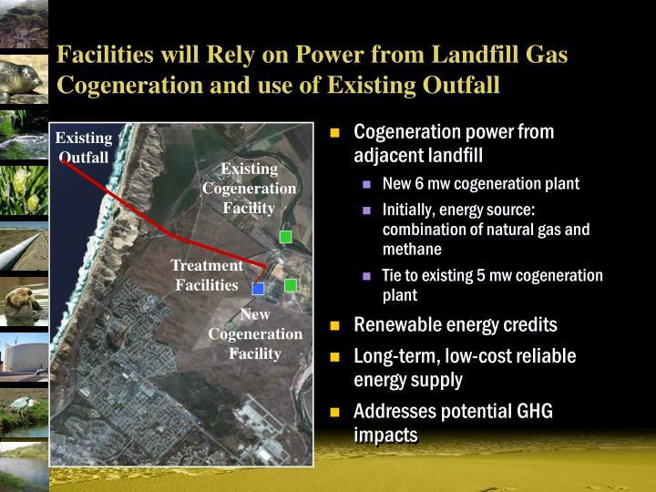 Cogeneration power from adjacent landfill