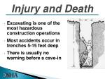 injury and death