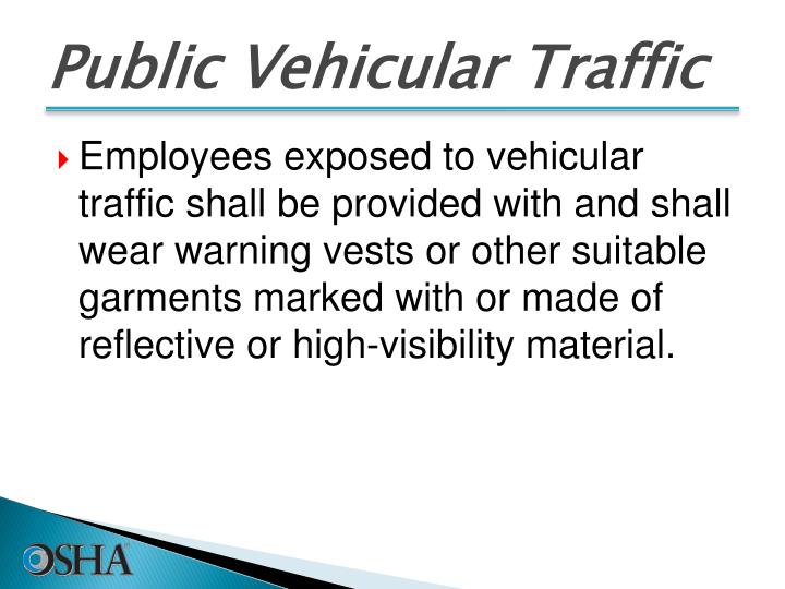 Public Vehicular Traffic