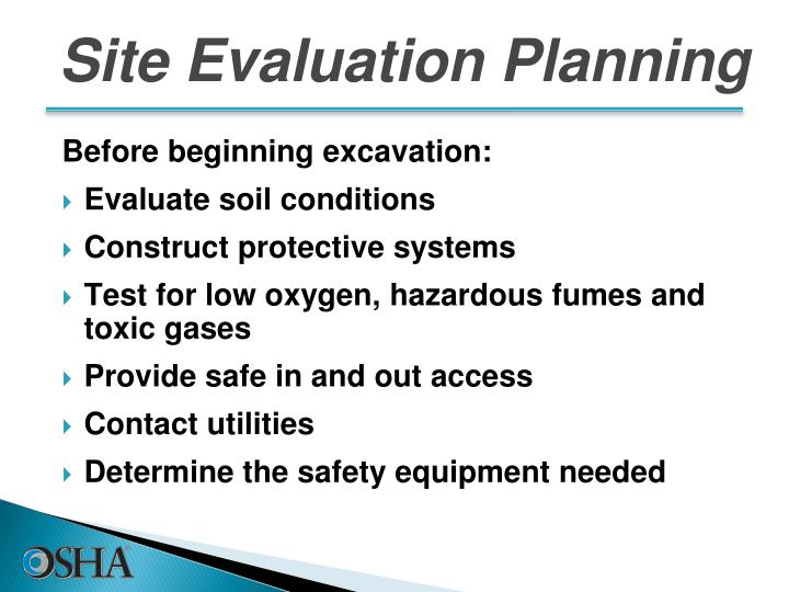 Site Evaluation Planning