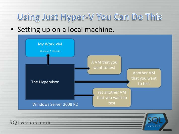 Using just hyper v you can do this