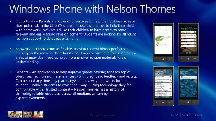 windows phone with nelson thornes
