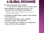 a global exchange