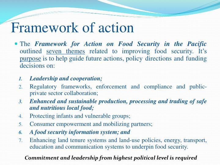 Framework of action
