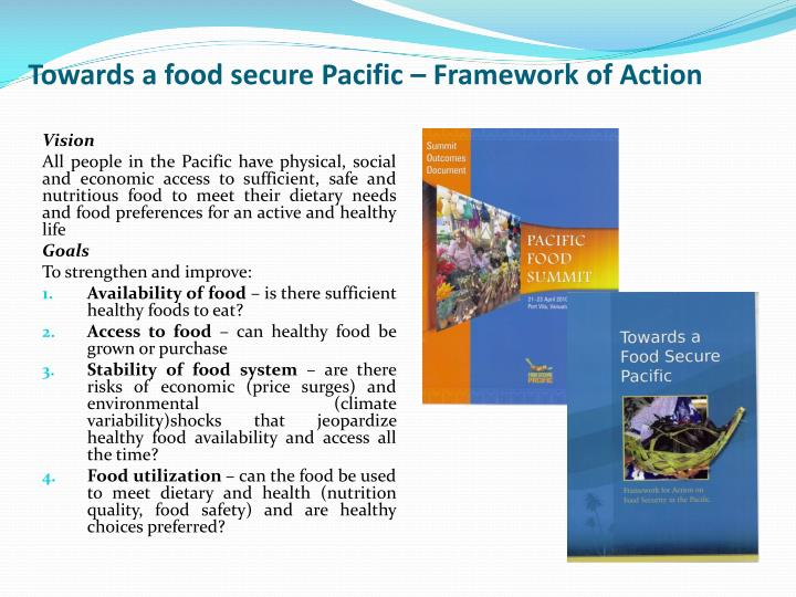 Towards a food secure
