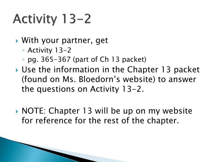 Activity 13-2
