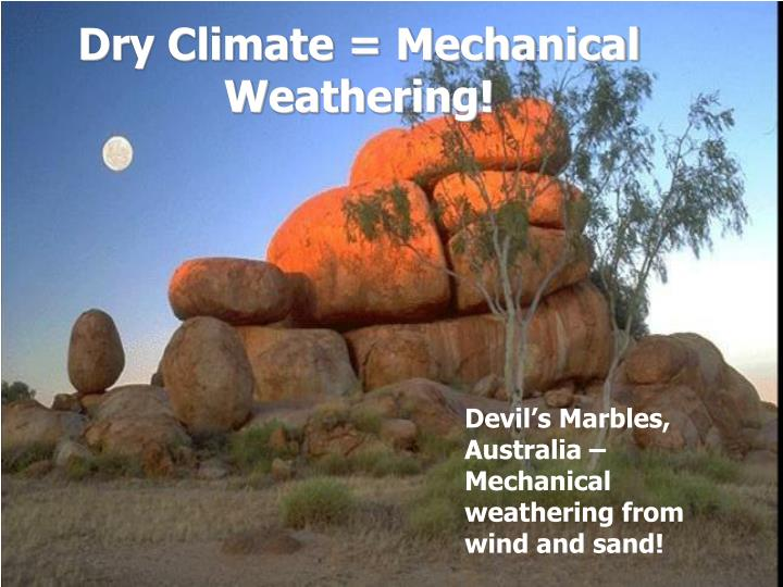 Dry Climate = Mechanical Weathering!