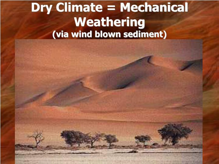 Dry Climate = Mechanical Weathering