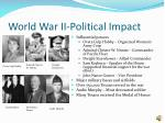 world war ii political impact