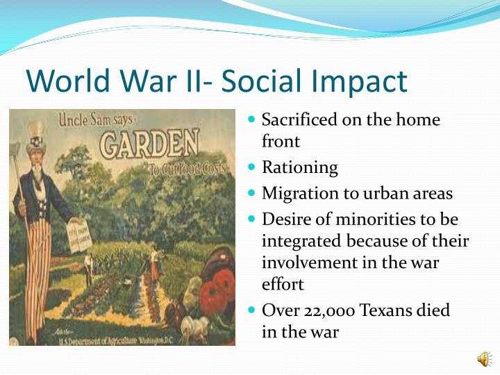 World War II- Social Impact