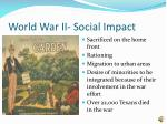 world war ii social impact