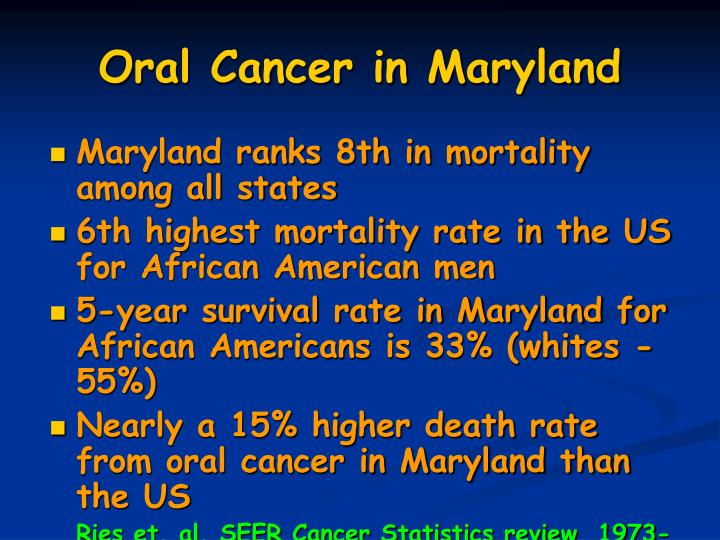 Oral Cancer in Maryland