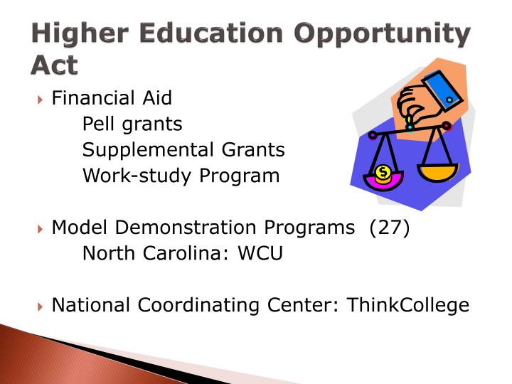 Higher Education Opportunity Act