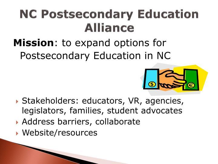 NC Postsecondary Education Alliance