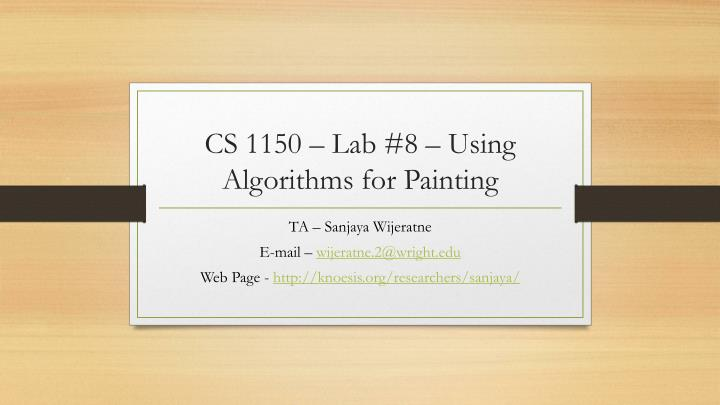 cs 1150 lab 8 using algorithms for painting
