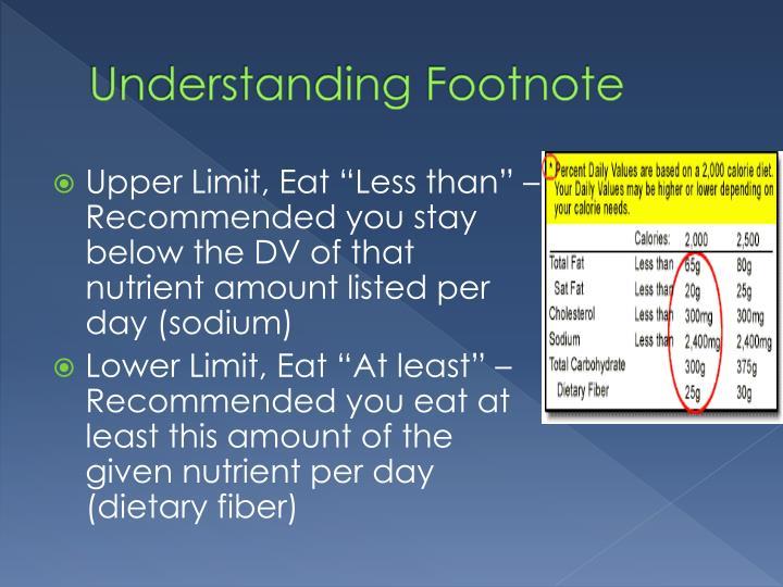 Understanding Footnote