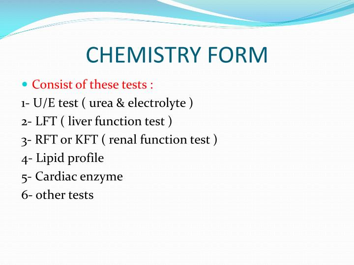 CHEMISTRY FORM