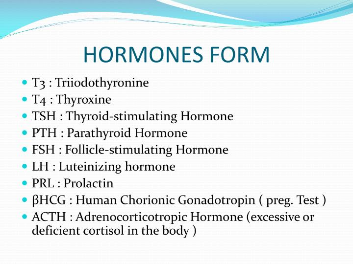 HORMONES FORM