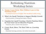 rethinking nutrition workshop series
