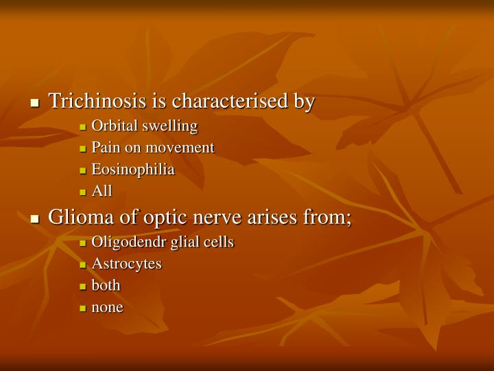 Trichinosis is characterised by
