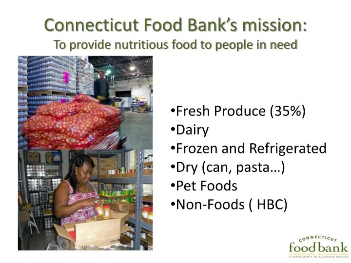 Connecticut Food Bank's mission: