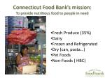 connecticut food bank s mission to provide nutritious food to people in need